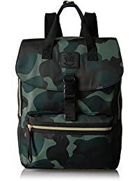 T-Shirt & Jeans Happy Camper Large Back Pack in Camo