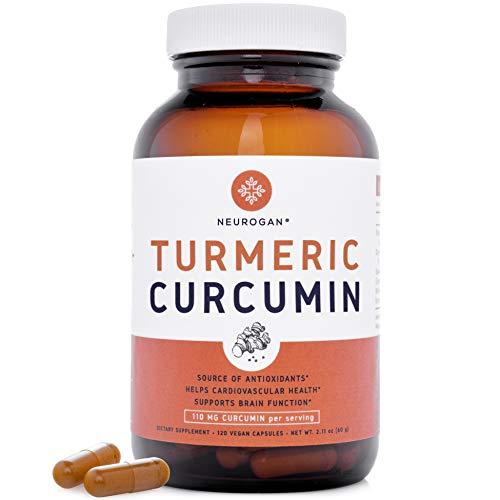 Neurogan Turmeric with Ginger & BioPerine Black Pepper – 95% Curcuminoids, Potent Anti-Inflammatory & Antioxidants for…