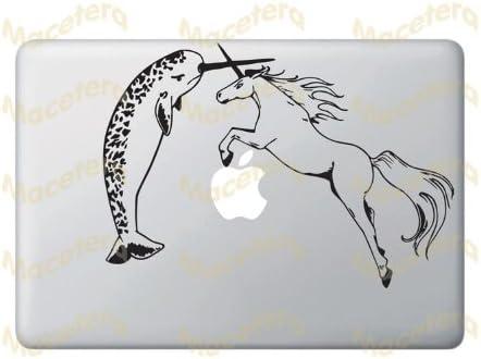 Yadda-Yadda Design Co. Narwhal Versus Unicorn - Vinyl Laptop or MacBook Decal
