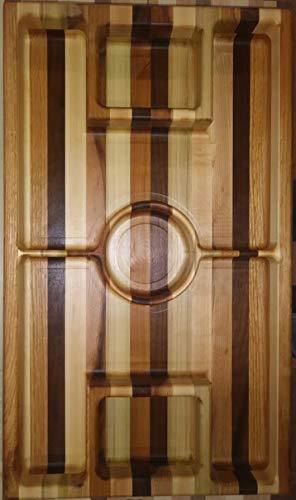 Custom Wood Rotating Soccer field Serving Platter/Snack Tray