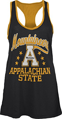 Three Square by Royce Apparel NCAA Appalachian State Mountaineers Nelly Tank, Small, Black