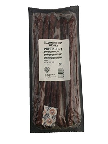 Tillamook Country Smoker Pepperoni Sticks 20 Count Bulk Refill 1lbs.