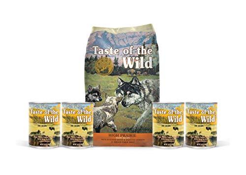 Taste of the Wild High Prairie Puppy Food- 1-(5 lb. Bag) 4-(13.2 oz...
