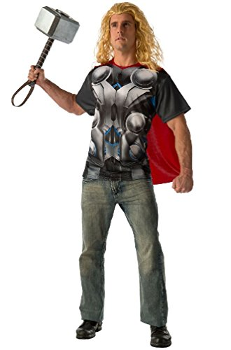 [8eighteen Marvel Thor T-Shirt Adult Costume] (Lady Thor Costumes)