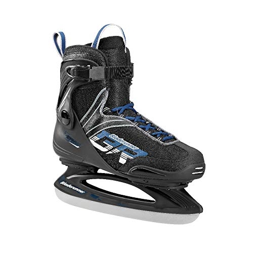 Bladerunner Ice by Rollerblade Zephyr Men's Adult Ice Skates, Black and Blue, Recreational, Ice Skates, US Size 8