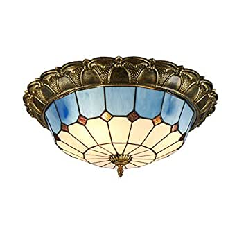 Amazon.com: LED Tiffany-Style Vintage Lámpara de Techo ...