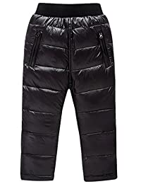Happy Cherry Kids Winter Thicken Warm Down Pants Lightweight Padding Trousers Pants