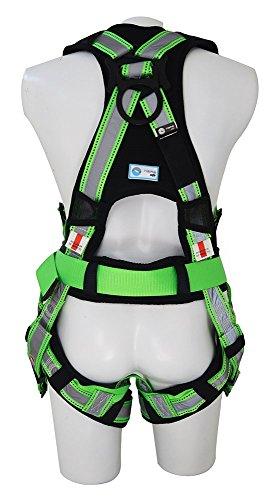 NARA SAFE NS9300010, Full body harness, construction reflective, high visibility, 3 D-rings by Nara Safe (Image #1)