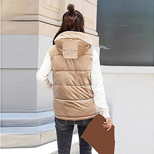 2018 Donna Gilet Caldo Giubbotti Cappotto A Inverno Pelliccia Faux Elegante Khaki Giacca Vento Spessa Slim Cappuccio Morwind Jacket 85wqR4a