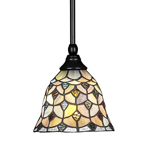 Crescent Glass Pendant (Toltec Lighting 23-MB-9965 Stem Mini Pendant with Hang Straight Swivel with 6.5