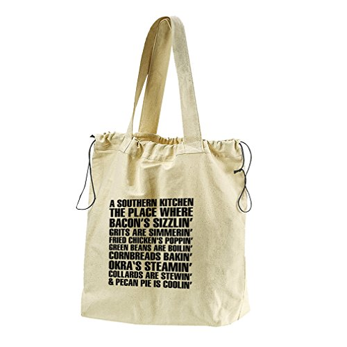 A Southern Kitchen Canvas Drawstring Beach Tote Bag