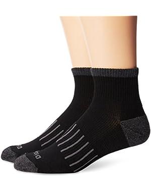Men's 2 Pack Work To Casual Stripe Quarter Socks