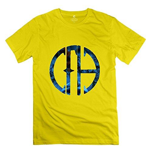 C-DIY Men's T-shirts Graphic Pantera Logo XS Yellow