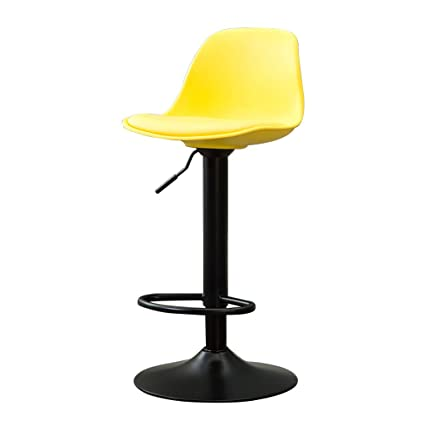 Magnificent Amazon Com Upholstered Bar Stools Bar Chair Yellow Modern Pabps2019 Chair Design Images Pabps2019Com