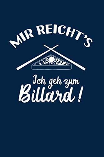 Snooker: Ich geh zum Billard: Notizbuch / Notizheft für Pool-Billard 8 9 Ball Billard-Spiel A5 (6x9in) dotted Punktraster por Notizbücher und Geschenkideen, Pool-Billard Snooker