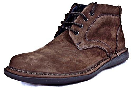 FRAU - Zapatillas de Piel para hombre negro T.moro