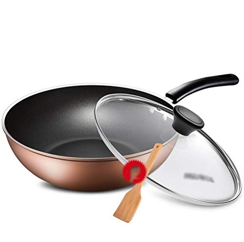 WYQSZ Wok - Home less oil fume wok multi-function durable wok -fry pan 2365 (Design : A) by WYQSZ (Image #5)