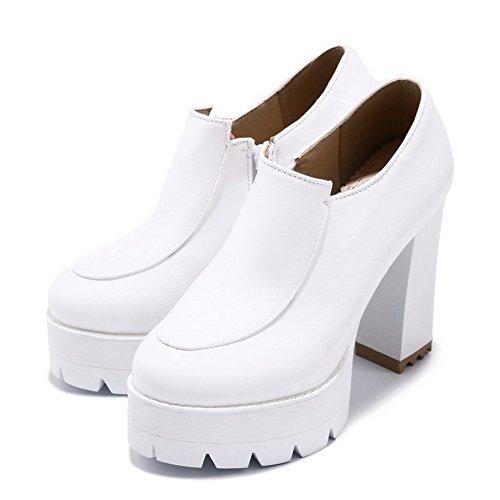 BalaMasa Womens Dress Platform Slip-Resistant Urethane Pumps Shoes ABL10346 White 52pT7