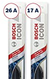 Bosch ICON Wiper Blades (Set of 2) Fits 2012-07 Nissan Sentra; 2008-00 Maxima; 2006-02 Altima & More, Up to 40% Longer Life