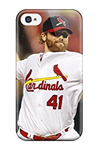 For Iphone 4/4s Tpu Phone Case Cover(st_ Louis Cardinals )