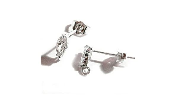 2PCS 925 Real Silver BACK STOPPERS Earrings Jewelry Findings For Stud Pin