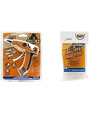 Gorilla Dual Temp Hot Glue Gun, Orange, (Pack of 1) with Hot Glue Sticks, 30 Count, Clear