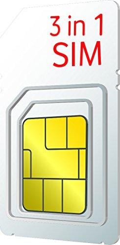 Vodafone UK Pay as You Go Trio Sim Card