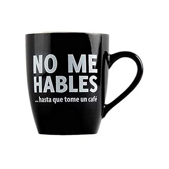 41H68B8yOqL Taza con mensaje original para adictos al café. Es un regalo original perfecto para tu pareja, tus amigos, tu padre, tu madre, tu jefe... Cerámica de excelente calidad.