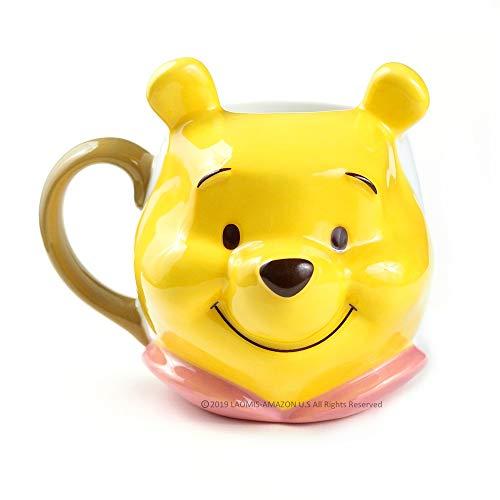 Japanese Winnie the Pooh 3D Face Ceramic Mug, 11.83 Ounce / 350 ml [ SAN-2948 ]