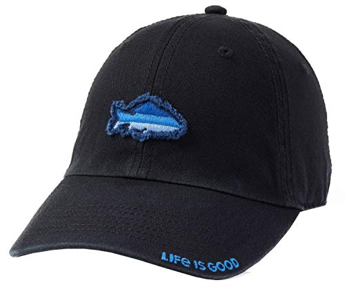 Life is Good Unisex Tattered Chill Cap Baseball Hat, Night Black, OS