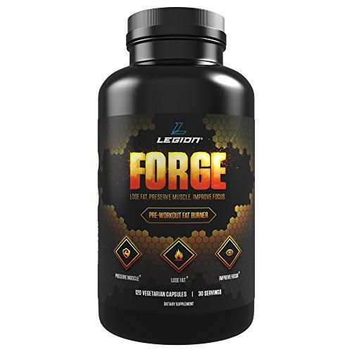 Supplément de brûleur de graisse de pré-entraînement Légion FORGE pour perdre de la graisse, la préservation musculaire et dynamiser vos séances d'entraînement - 120 Capsules, 30 portions