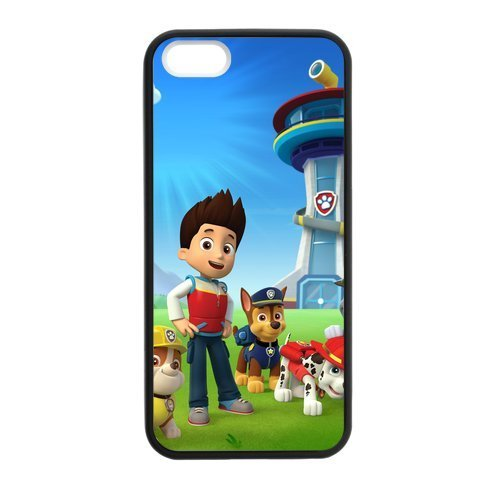 [iphone 5 5s case discount black border Cases for Iphone 5,5S Apple paw patrol] (Costume Made At Home)