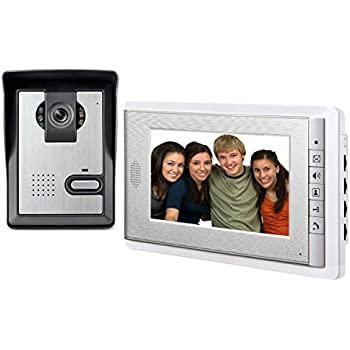AMOCAM 7\  LCD Monitor Wired Video Intercom Doorbell System Video Door Phone Bell Kits support  sc 1 st  Amazon.com & Amazon.com: AMOCAM 7\
