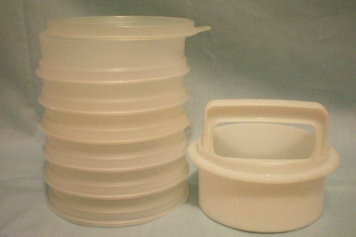 (VINTAGE Tupperware Hamburger Patty -- Makes and Stores 6 Hamburgers -- Complete as Shown)
