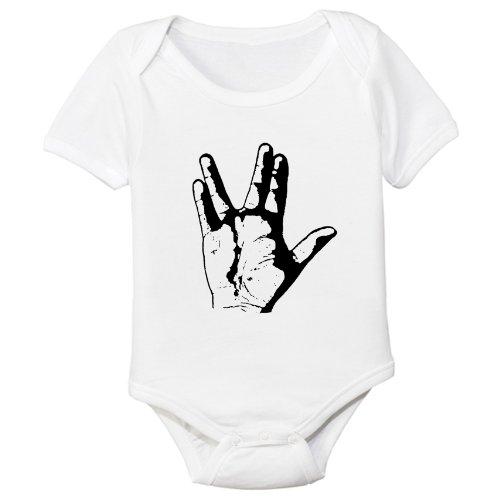Vulcan Organic Cotton Baby Bodysuit (3-6M) (Captain Kirk Outfit)