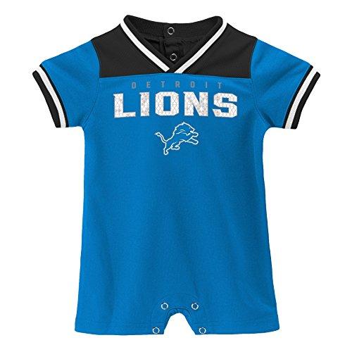 - Outerstuff NFL NFL Detroit Lions Newborn & Infant Game Day Short Sleeve Romper Lion Blue, 12 Months
