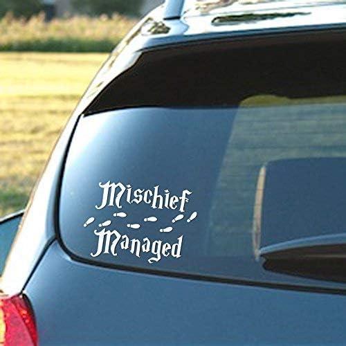 Mischief Managed VINYL DECAL Harry Potter Muggle Sticker Hogwarts Window Car