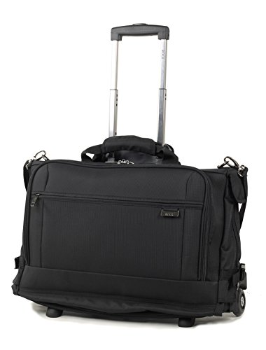 Rock Carry-on Tri-fold Garment Carrier on Wheels with Removable Laptop...