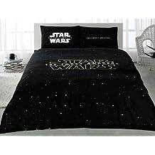 Star Wars Bedding Duvet Cover Set Queen Size 100% Cotton / Star Wars Themed Duvet Cover Set / Star Wars The Force Awakens Duvet Cover Set 4 PCS New Licensed