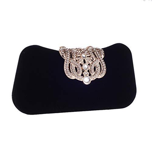 Ladies Business Nero colore Bag Zhangcaiyun Strass Wedding Bags nero Party Women Clutch Evening Crown Purse qq7P0W6Z