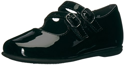 Rachel Shoes Girls' Lil Shara Mary Jane Flat, Black Patent, 9 M US (Dressy Toddler Shoes)