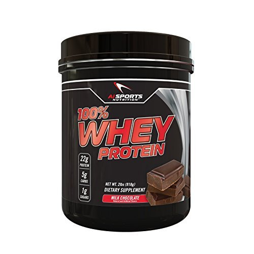 100% Whey Milk Chocolate Protein Powder by AI Sports Nutrition | 100% Whey Protein Powder 2 Lbs (28 Servings) Amazing Milk Chocolate Flavor