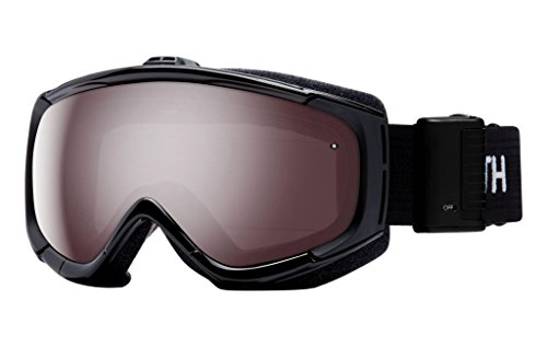 Smith Optics Phenom Turbo Fan Adult Turbo Fan Series Snocross Snowmobile Goggles Eyewear - Black / Ignitor Mirror / Medium by Smith