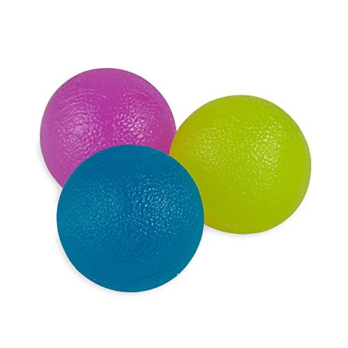 Squeeze Ball - Gaiam Restore Hand Therapy Exercise Ball Kit (3 Massage Balls - Soft, Medium, Firm) for Physical Therapy and Hand Pain Relief
