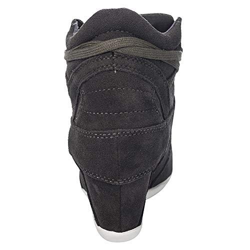 Mode Rismart Baskets Compensé Caché Femmes Talon Verte Crochet Confort Tennis Armée Boucle Chaussures aazSc
