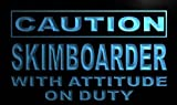 Caution Skim boarder on Duty LED Sign Neon Light Sign Display m624-b(c)