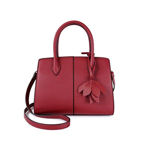 2018 Nuevo Bolso De Cuero Para Mujer De Moda Shoulder Messenger Bolsa De Gran Capacidad Para Mujer Bolsa De Compras (rojo Negro Gris Verde Azul),Blue-26*10*21cm Red