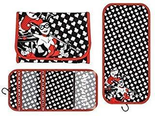 DC Comics HARLEY QUINN Logo Hanging Cosmetic Travel BAG