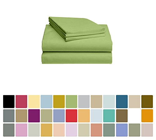 LuxClub Bamboo Sheet Set - Viscose from Bamboo - Eco Friendly, Wrinkle Free, Hypoallergenic, Antibacterial, Moisture Wicking, Fade Resistant, Silky, Stronger & Softer than Cotton - Lime - Queen (Bamboo Soft Sheets)
