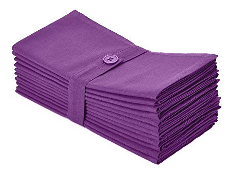 Cotton Craft- Dinner Napkins, 12 Pack Oversized Dinner